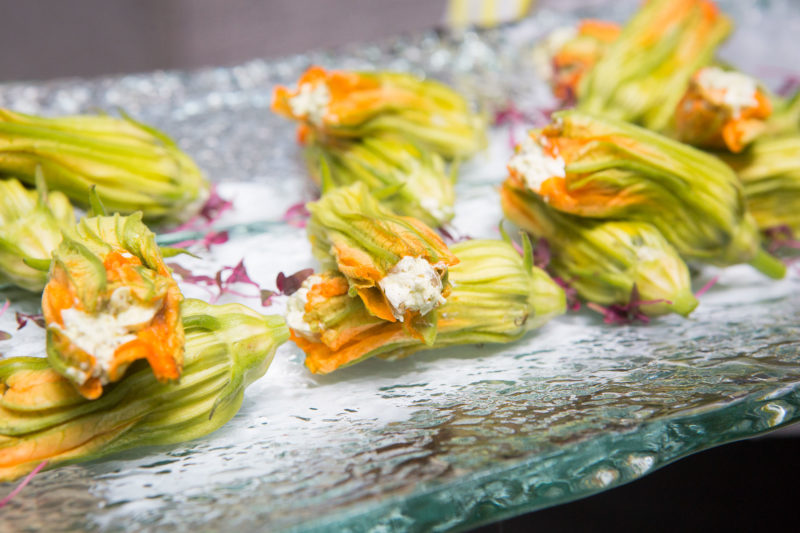 Well Dunn Catering Summer Fete Squash Blossoms
